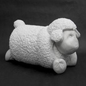 Little Lamb, marble, 9 x 8 x 16 in.
