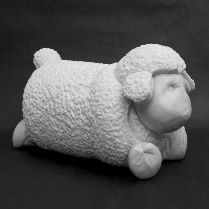 Little Lamb, marble, 9 x 8 x 16 in.