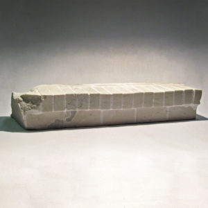 New Construction, marble, 8 x 46 x 14 in.