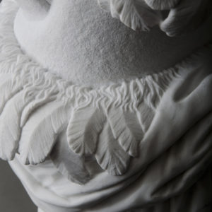 Icon: Sam the Eagle, marble, 19 x 12 x 12 in.