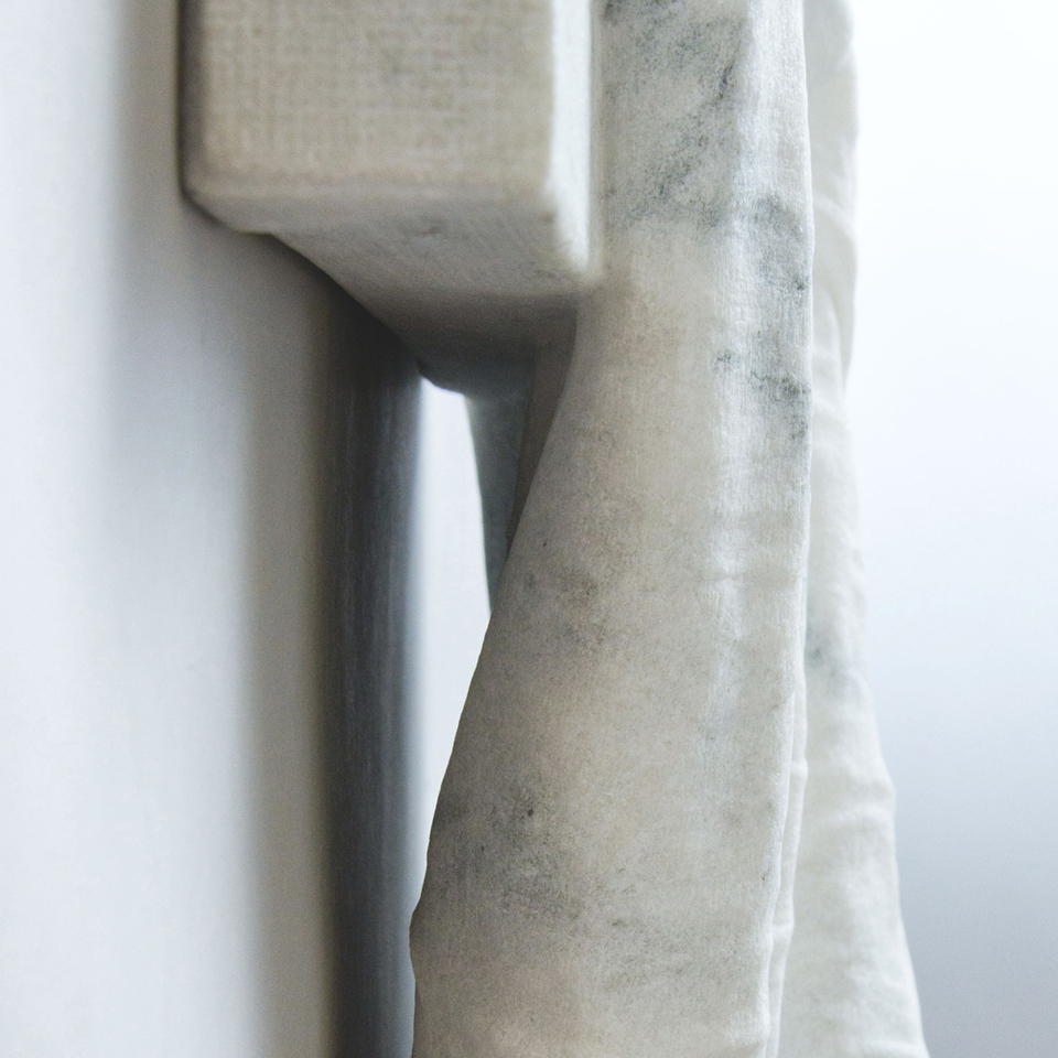 Unseen, marble, 28 x 15 x 4 in.