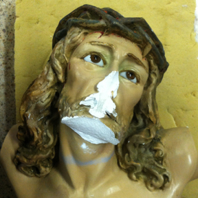 Corpus Restoration, plaster and paint