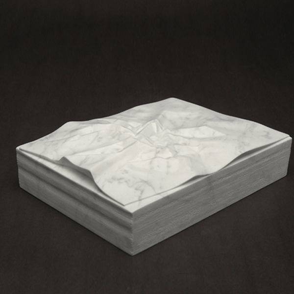 Frustration, marble, 8.5 x 11 x 4 in.