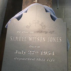 Custom Memorial, bluestone