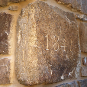 Barn Cornerstone, Pennsylvania, field stone