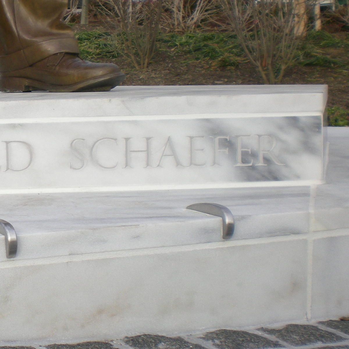 William Donald Schaeffer Base, marble
