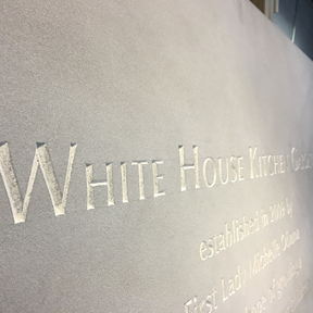 White House Garden Dedication Plaque