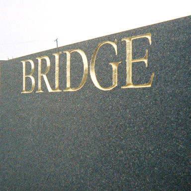 Woodrow Wilson Bridge Sign, granite