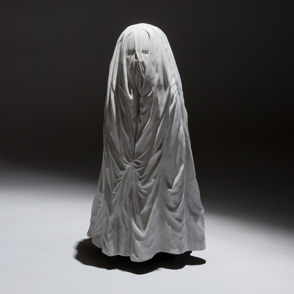Little Ghost, marble, 33 x 16 x 14 in